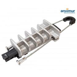 Pinza de Anclaje de Aluminio para tiradas aéreas