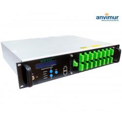 EDFA amplifier, 16 outputs x 19 dB, built-in WDM