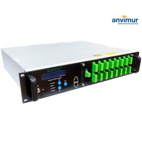 EDFA amplifier, 16 outputs, 31dBm, built-in WDM