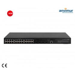 Switch 24x Giga-T + 4x SFP + PoE+ 370W (AC/DC) 5024PV3EI-HPWRGL | H3C