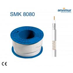 Cable Coaxial 100mts Blanco LSZH Cobre CPR Dca. SMK8080