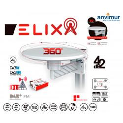 Omnidirectional Antenna 360º 4K VHF/UHF 42dB LTE Filter   ELIXA