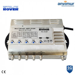 Multiband Central Amplifier SAT / 5 input / 53dB / RT-407 PLUS 5G