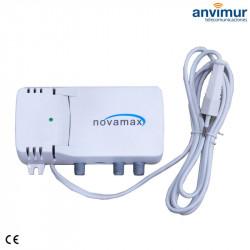 Amplificador Interior TV/SAT 25dB LTE700 Filtro 5G | Novamax