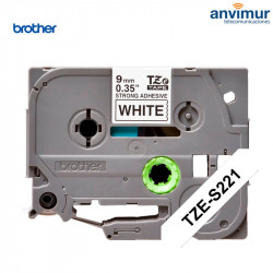 Brother Super adhesive P-Touch BLACK ON WHITE text 9mm | 8m