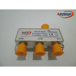 TAP 5-1000Mhz 2 outputs 20dB. Anvimur