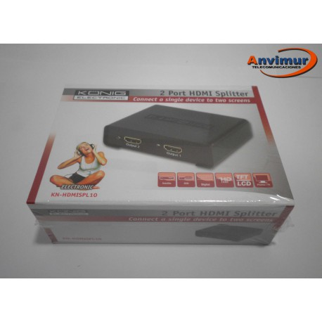 Divisor HDMI de 2 puertos