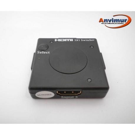 Selector HDMI de 3 entradas y 1 salida