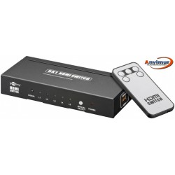 HDMI switch, 5 entradas y una salida