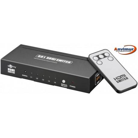HDMI switch, 5 entradas y una salida