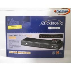Selector HDMI de 4 entradas y 2 salidas con mando a distancia