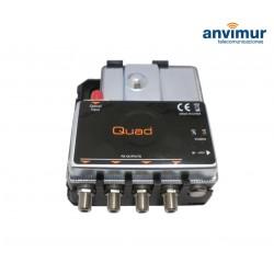FIBRE IRS GTU - Convertidor OPTICO-RF QUAD para LNB óptico INVACOM