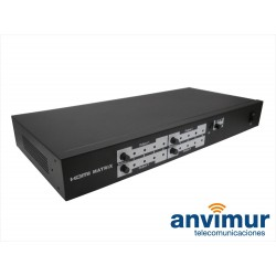 HDMI switch, 4 inputs and 4 outputs with remote control