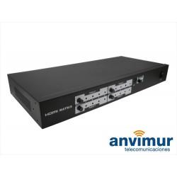 Selector HDMI de 4 entradas y 4 salidas con mando a distancia