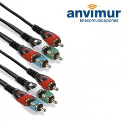 5 RCA TO 5 RCA CONNECTION, 2 M, audio + YUV