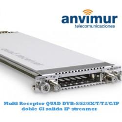 QUAD Multistandar DVB-S/S2/SX/T/T2/C/C2/IP Luminato receiver