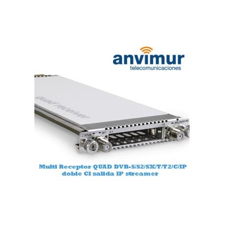 Receptor multi estandar QUAD DVB-S/S2/SX/T/T2/C/C2/IP Luminato