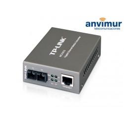 Gigabit 2 fiber SM media converter