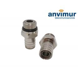 """Conector macho 5/8"""" para crimpar en cable RG11 (10.2 mm)"""