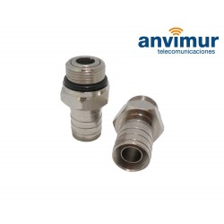 """male 5/8"""" connector for crimp in RG11 cable (10.2 mm)"""