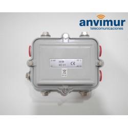 Inyector alimentación en coaxial para CATV