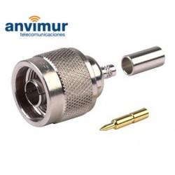 Conector para crimpar N macho para cable RG58