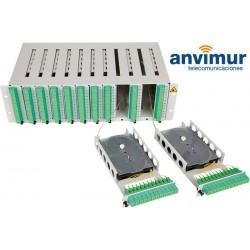 Distribuidor patch panel ORMPM 3U Diseñado para 144 Fibras