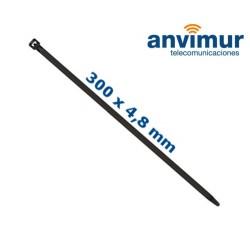 Nylon cable tie 300mm x 4,8mm, Black