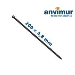 Nylon cable tie 200mm x 4,5mm, Black