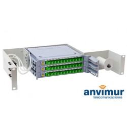 Distribuidor patch panel ORSM 2U Diseñado para 36 Fusiones   ODF36