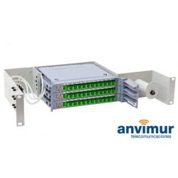 Distribuidor patch panel ORSM 2U Diseñado para 36 Fusiones