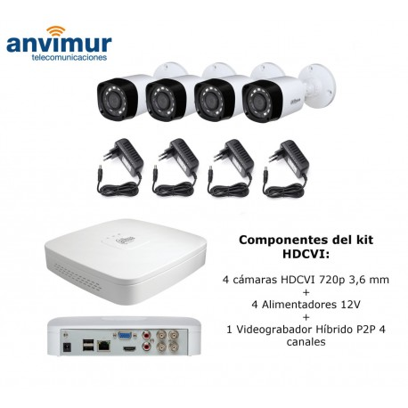 HDCVI bullet camera, 1 Megapixel 720p, IR LEDS