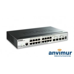 Switch Gigabit Dlink DGS-1510 16 puertos + 4 SFPs