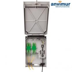 Caja Distribución Universal 12 fusiones y 4 salidas