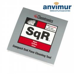 Plataforma compacta de limpieza de conectores de fibra optica SqR