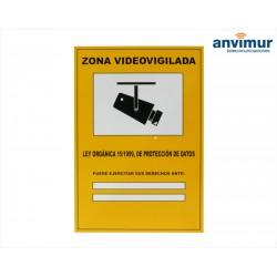Cartel Zona videovigilada LOPD