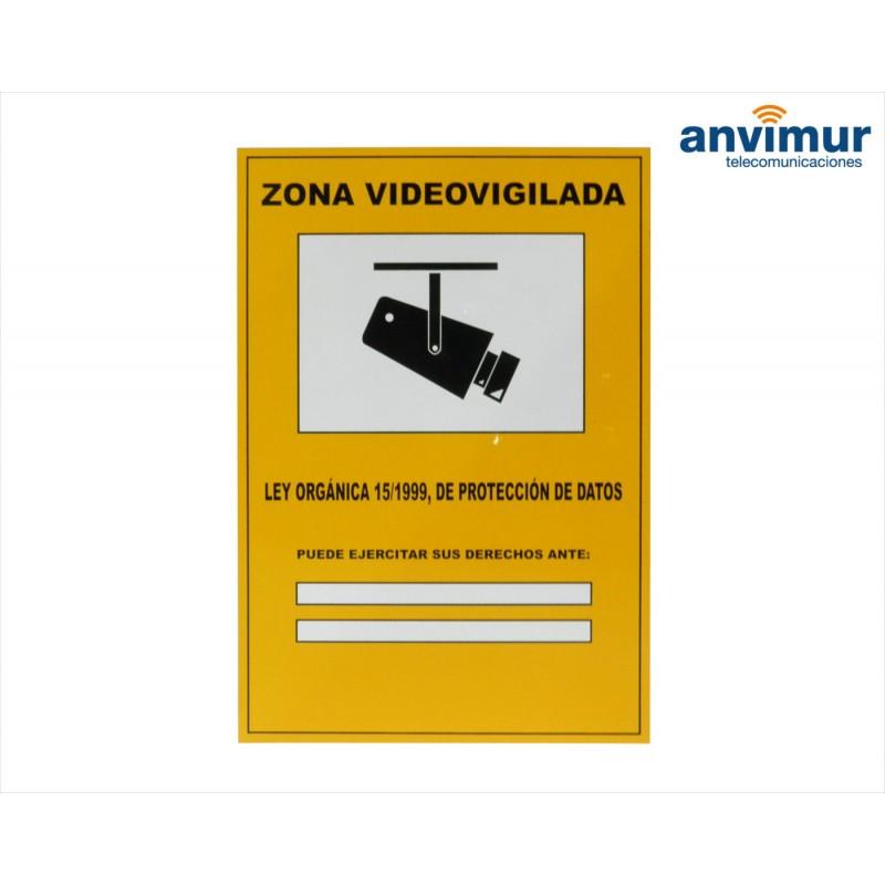 Cartel zona videovigilada lopd anvimur - Cartel de videovigilancia ...