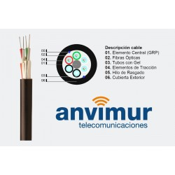 OPTRAL DP-128 F – Cable Multitubo Dieléctrico (16 tubo x 8 fibras)