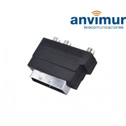 Adaptador 3 RCA a Euroconector con conmutador