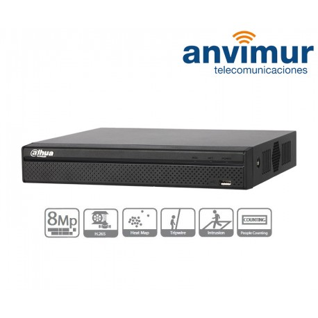 DVR 16 canales, Tríbrido (analógico/HDCVI/IP), 720P