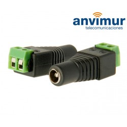 DC famale connector with +/- output, 2 terminals