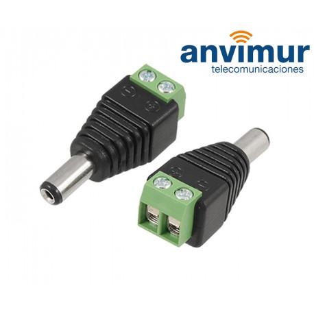 Conector DC hembra con salida +/- de 2 terminales