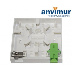 Anvimur 2 ports Wall outlet with clamp