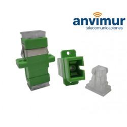 transparent H/H adapter - SC/APC Simplex
