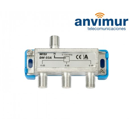 Repartidor CATV 5-1000 Mhz 3 salidas