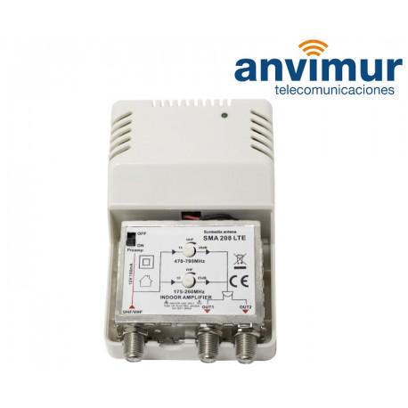 AMP. INTERIOR 470-790Mhz 30dB SMA 208LTE