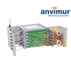 Distribuidor patch panel ORSM 4U Diseñado para 72 Fusiones