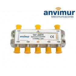 Derivador Anvimur 5-2400Mhz 6 salidas 16dB.