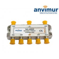 Derivador Anvimur 5-2400Mhz 6 salidas 20dB.