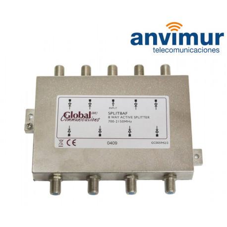 SAT 700-2150Mhz active splitter, 8 outputs